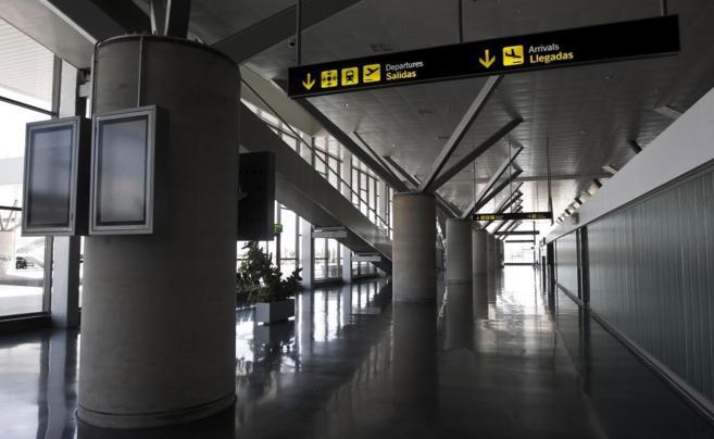 Uno de los pasillos del Aeropuerto de Ciudad Real