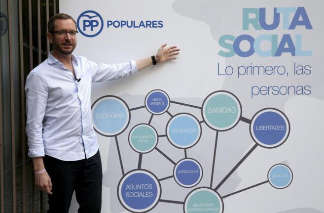 Javier Maroto durante la presentación de la agenda social del PP.