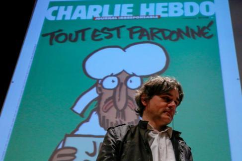 El director de 'Charlie Hebdo', Laurent Sourisseau...