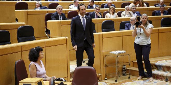 El ex president balear José Ramón Bauzá el pasado jueves en el...