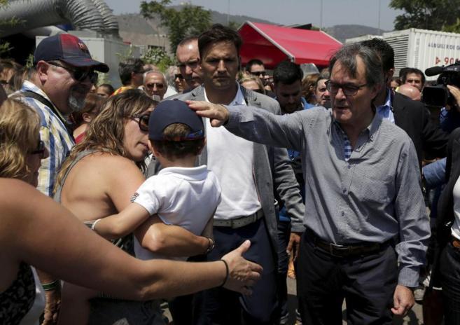 El presidente de la Generalitat, Artur Mas, durante las votaciones a...