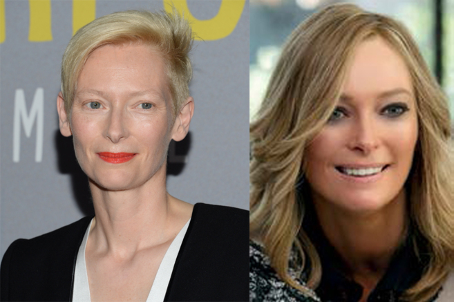 Tilda Swinton Trainwreck transformación