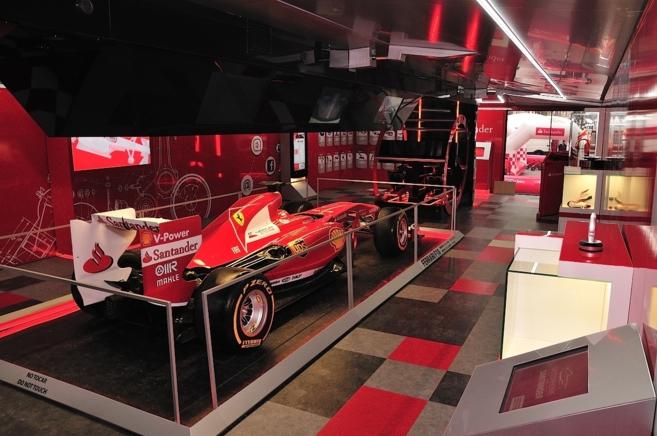El Ferrari que condujo Fernando Alonso.