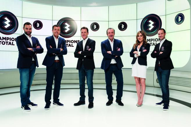 El equipo de 'Champions total' de Atresmedia.