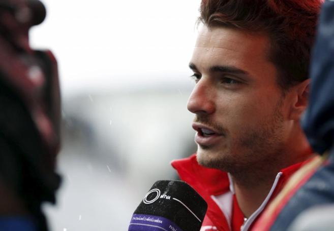 Jules Bianchi, durante una entrevista en el mundial de 2014.