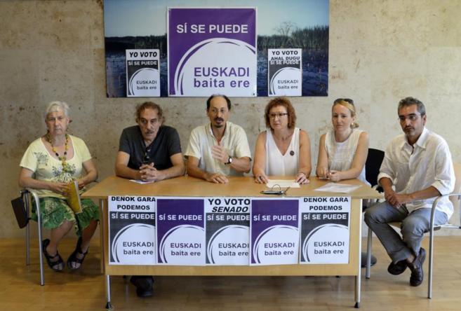 """Presentación de """"Sí se puede Euskadi baita ere"""",..."""