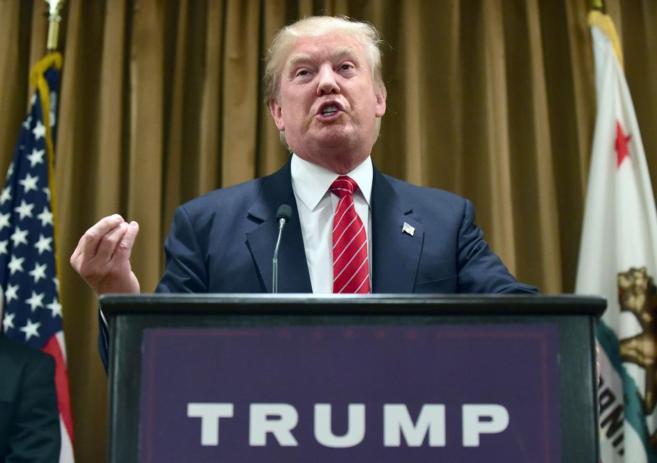 El magnate y candidato republicano Donald Trump durante un reciente...