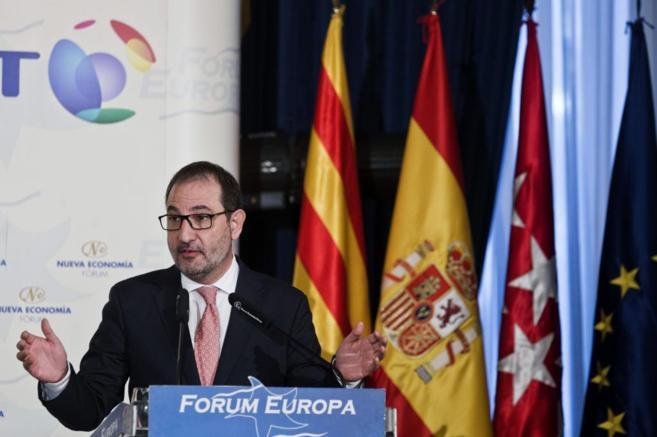 Ramón Espadaler durante una conferencia en Forum Europa.
