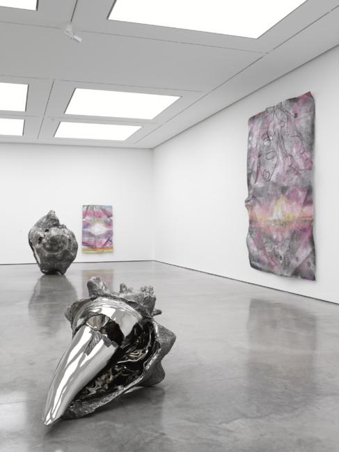 Una parte de la exhibición de Marc Quin en el White Cube de Londres.