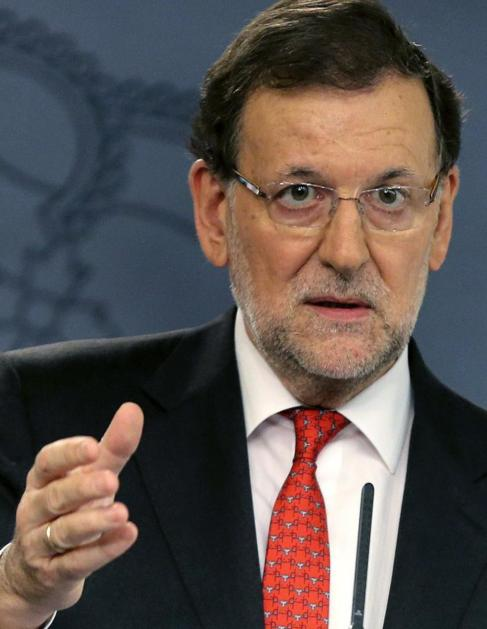 Mariano Rajoy, en la rueda de prensa.