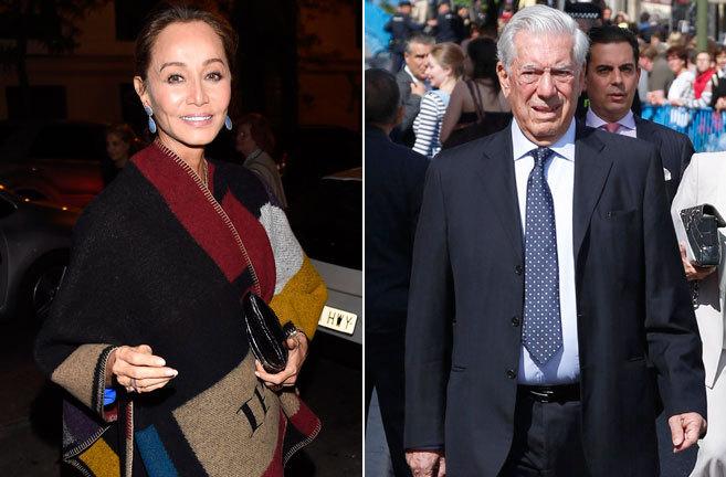 Isabel Preysler (izq.) y Mario Vargas Llosa (dcha.).