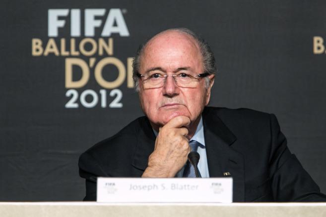 Blatter, 'ex presidente' de la FIFA.
