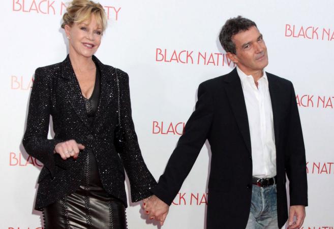 Melanie Grifitth y Antonio Banderas, cuando todavía eran pareja.