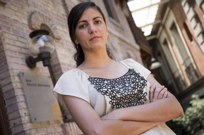 La disidente cubana Rosa María Paya durante una reciente entrvista...