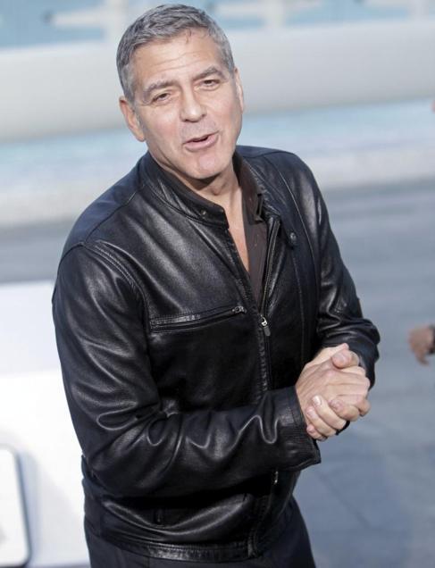 George Clooney en el preestreno de 'Tomorrowland' en...
