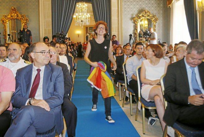 La concejala de Guanyar Alacant durante el acto de toma de posesión...