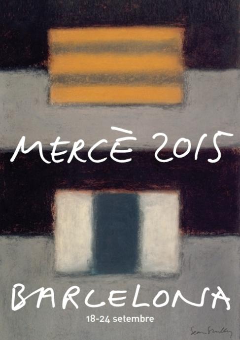 El cartel de las fiestas de la Mercè, obra de Sean Scully.