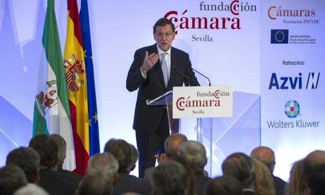 Mariano Rajoy durante su intervención en Sevilla.