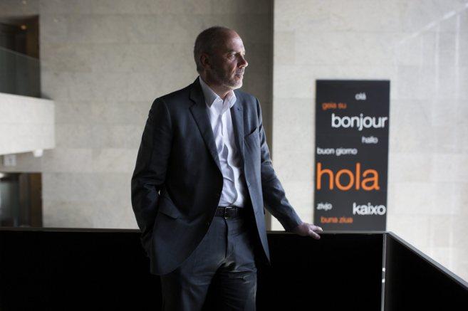 El presidente director general de Orange, Stéphane Richard, en la...