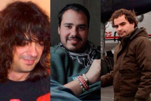 De izda. a dcha., José Manuel López, Antonio Pampliega y Ángel...