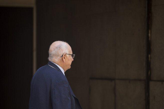 El juez Juan Pablo Gonzalez saliendo de la Audiencia Nacional despues...