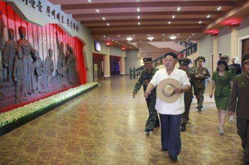 Kim Jong-un, en el Museo de Sinchon de Atrocidades de EEUU, en...