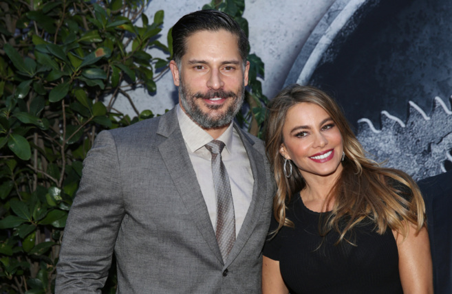 La pareja formada por Sofía Vergara y Joe Manganiello.