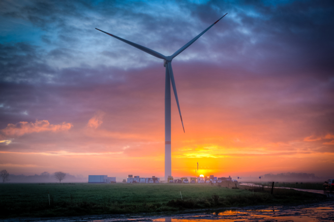 Uno de los aerogeneradores de Siemens en Alemania.