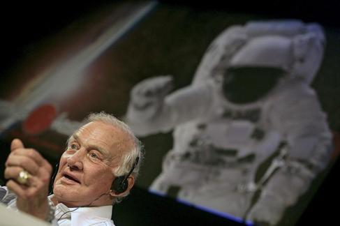 El astronauta Buzz Aldrin.