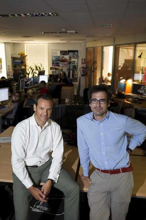 José San Román (i) e Ignacio Pérez Dolset (d), en la sede de Ilion.