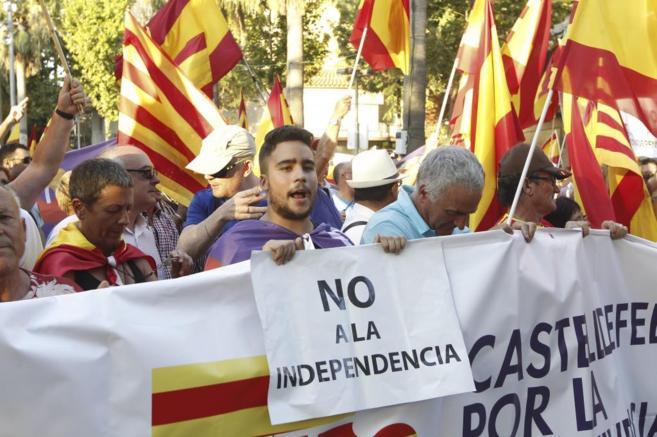 Jordi Soteras 23/07/2015 Catalunya Barcelona manifestaciones a favor...