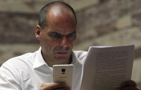 El ex ministro de Finanzas griego Yanis Varufakis, en el Parlamento...