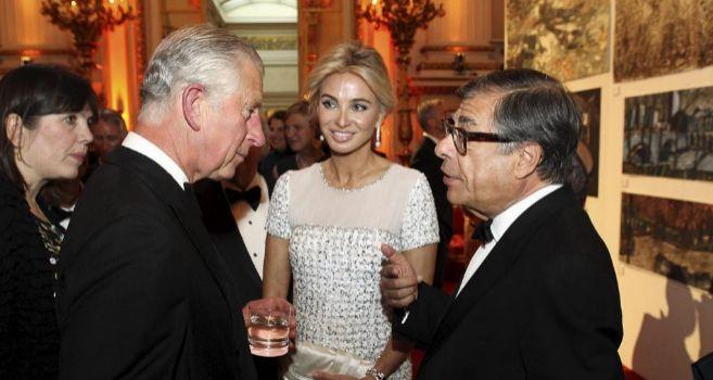 Corinna, junto al príncipe Carlos de Inglaterra.