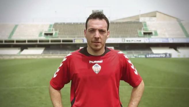 Rubén Suárez, en el vídeo promocional del Castellón para el play...