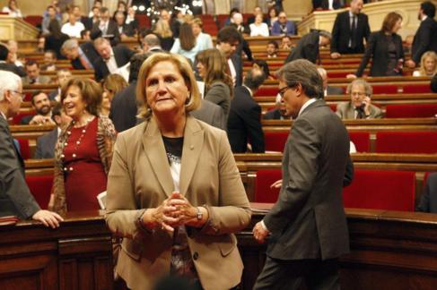 De Gispert, antes de una sesión en el Parlament.