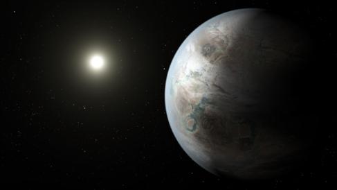 Recreación artística del nuevo planeta 'gemelo' de la...