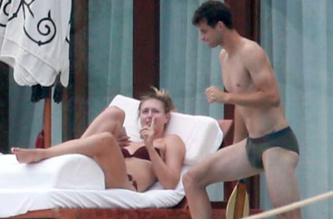 Maria Sharapova y Grigor Dimitrov, durante sus vacaciones el año...