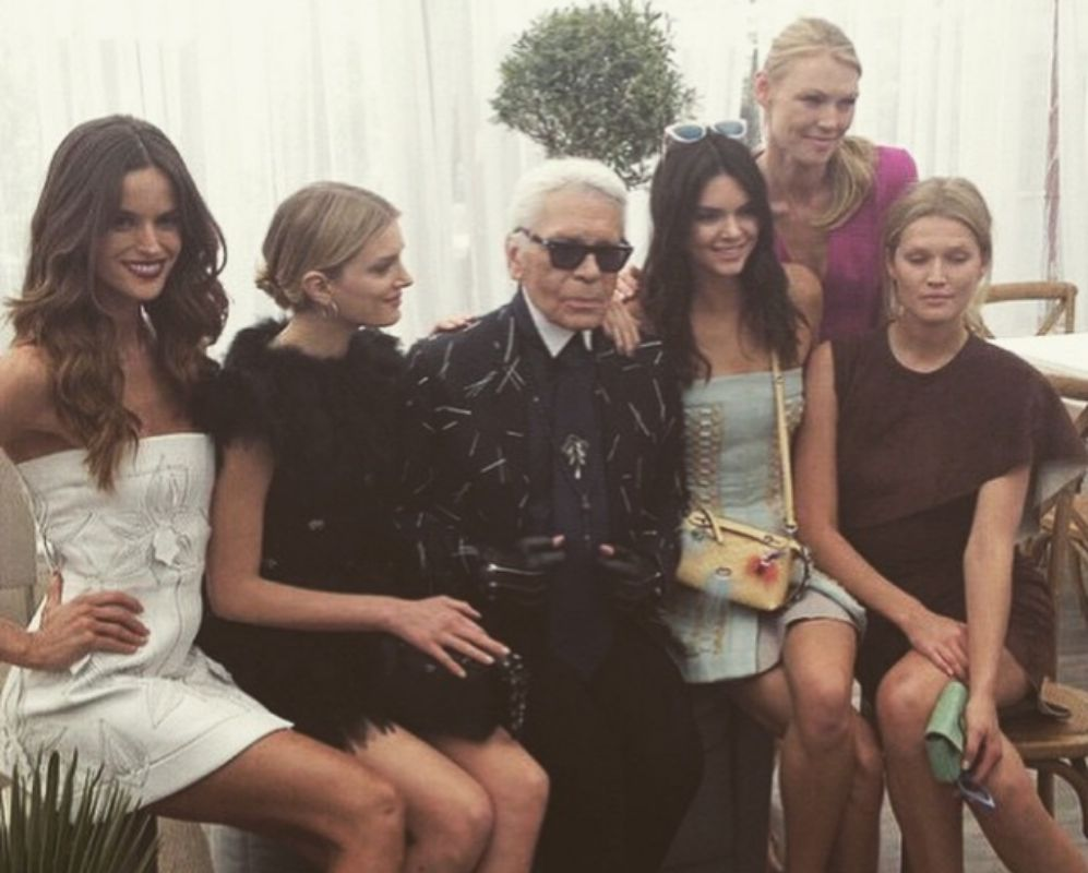 Kendall es musa de Karl Lagerfeld