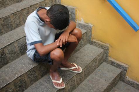 Joao, de 14 años, en la ONG Sao Martino (Río de Janeiro).