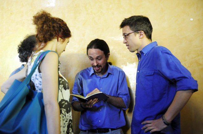 El líder de Podemos, Pablo Iglesias, e Íñigo Errejón esta semana...