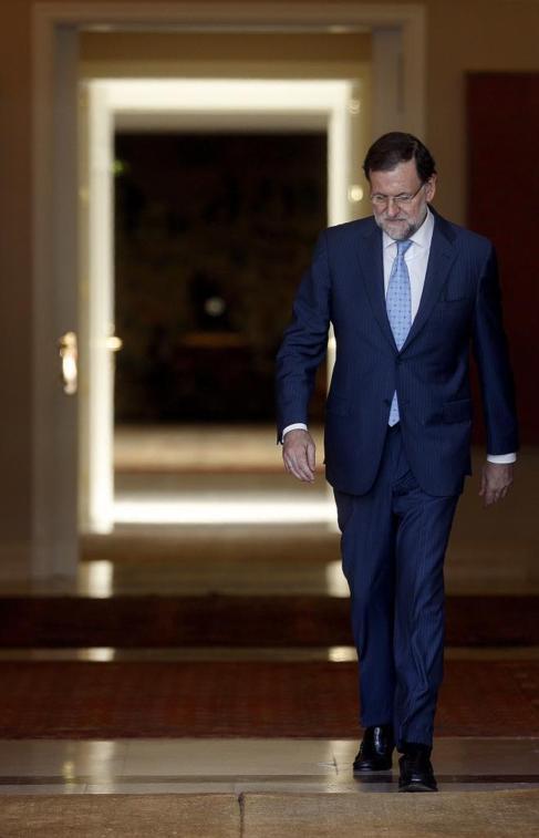 Mariano Rajoy, saliendo de La Moncloa hace dos semanas.