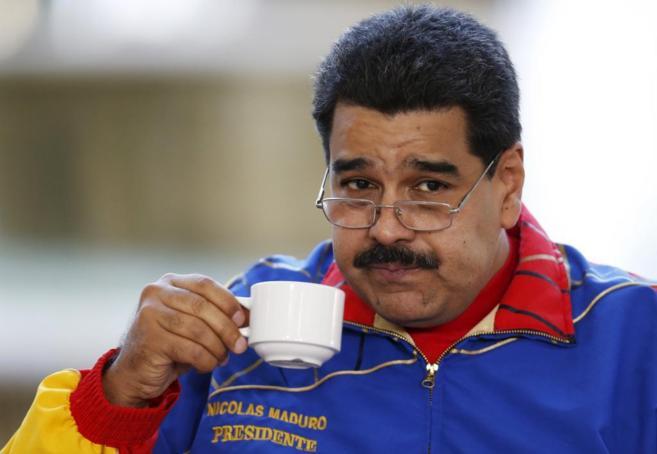 El presidente de Venezuela, Nicolás Maduro, durante un acto en...