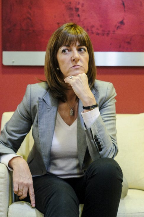La líder del PSE, Idoia Mendia.