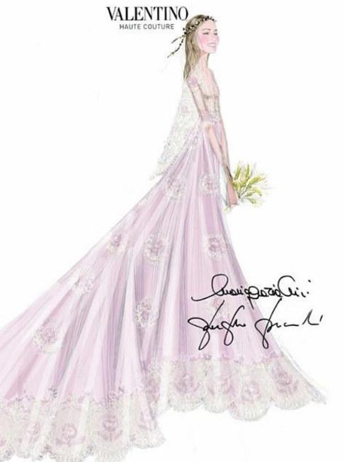 La casa Valentino ha sido la encargada de diseñar el vestido de...