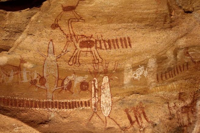 Una de las más de 750 pinturas rupestres que decoran los más de...