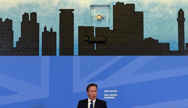 El primer ministro británico, David Cameron, en un discurso en...