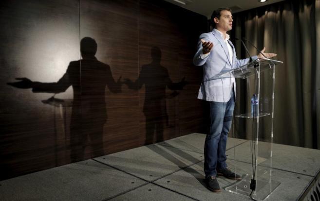 El líder de Ciudadanos, Albert Rivera, en un acto del partido...