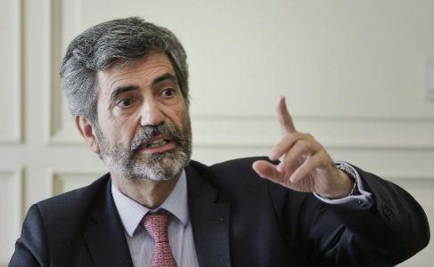 Carlos Lesmes, presidente del CGPJ, en una reunión con la Policía...