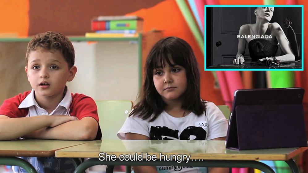 Fotograma del vídeo 'Niños vs. Moda' cortesía de Yolanda...