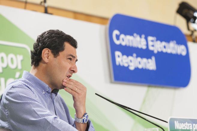 Juan Moreno, durante su intervención ante la ejecutiva regional del...